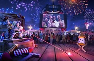 Pixar's Woody and Buzz on DIsney Wonder