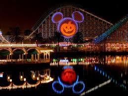 Night lights view of Disney California Adventure Park