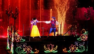 Snow White in Disney Fireworks Fantasmic Show