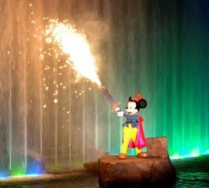 Mickey Mouse in Fantasmic Disney Fireworks at Hollywood studios
