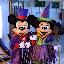 Disney Cruise Line Halloween with Mickey and Minnie in costume.