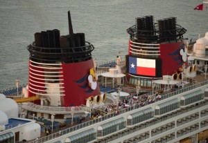 Disney Cruise Line Ship Dressed up for Galveston