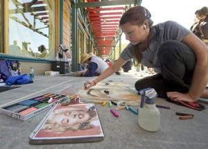 Disney 3D Sidewalk Chalk Artists