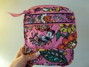 Disney Vera Bradley Bag Mini Hipster Front