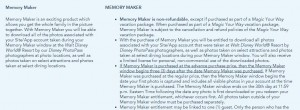 Disney Memory Maker Window