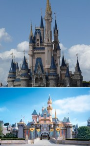 Disney Side in Disneyland and Walt Disney World