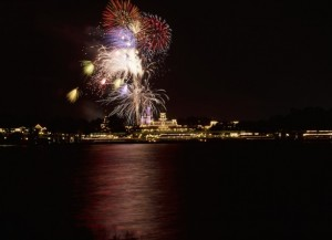 """Wishes"" Nighttime Spectacular from the Seven Seas Lagoon"