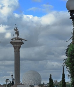 Epcot Photo View of Spaceship Earth from Italy