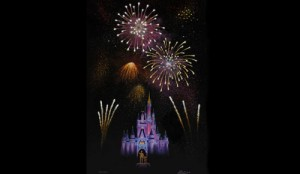 Disney Merchandise Larry Dotson Magic Kingdom Fireworks Meet the Artist