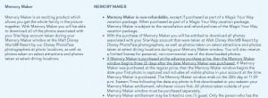 Disney Memory Maker Window