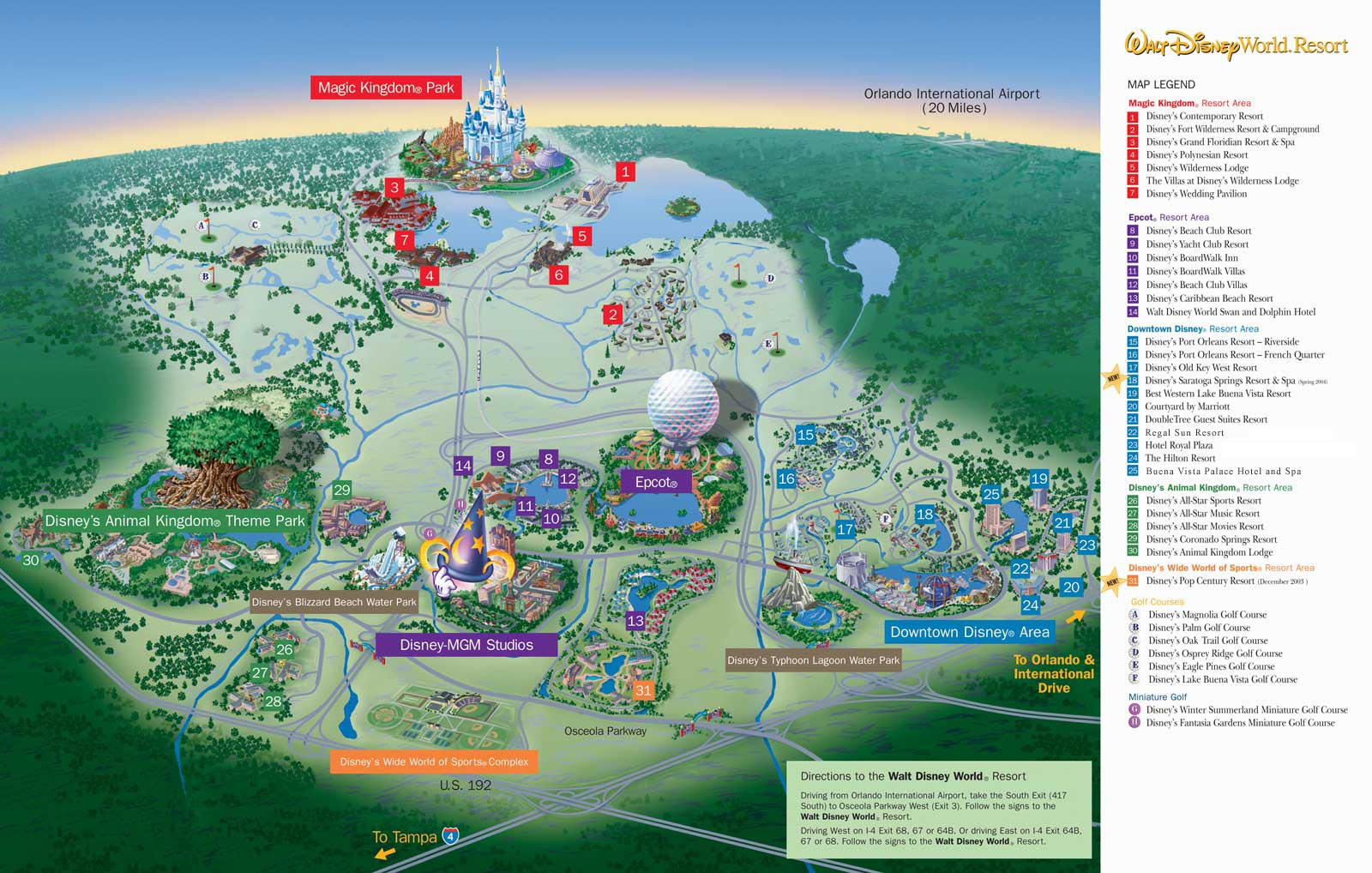 Walt Disney World Resort Map Olp Travel News