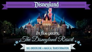 Disneyland Five Year Transformation 
