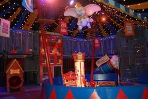 Disney Interactive Queues Dumbo the Flying Elephant