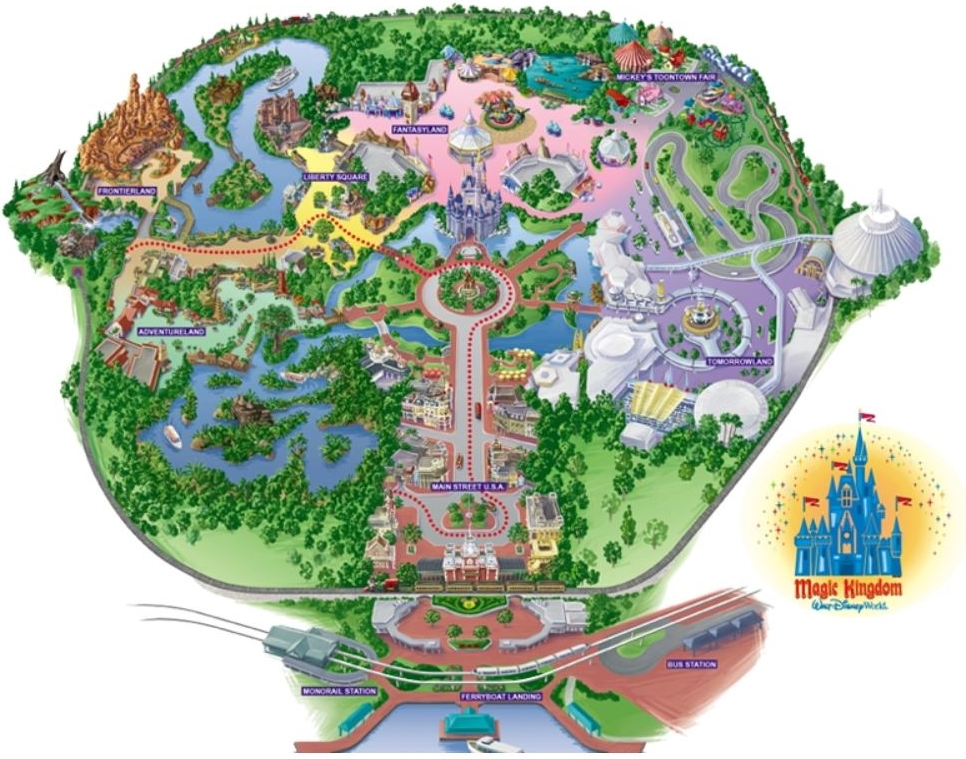 Magic Kingdom Map | New Calendar Template Site